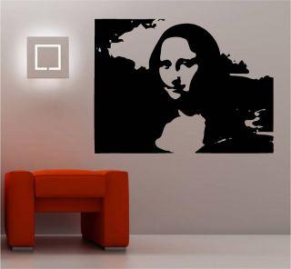 Banksy Style Mona Lisa Stencil Wall Art Sticker Vinyl
