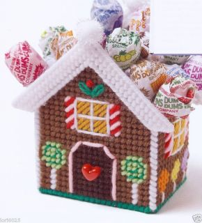 Gingerbread Goodie Basket Plastic Canvas Pattern