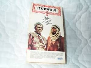 Masada VHS Peter OToole Strauss Barbara Carrera Romans