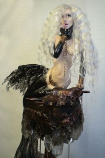 Mermaid Vampire Gothic Fairy Art Doll Sculpture Barbara Kee OAD