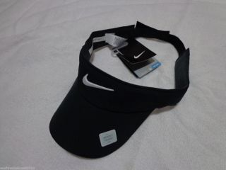 New Black Nike Womens Golf Visor Hat Dri Fit Cap by Nike Golf