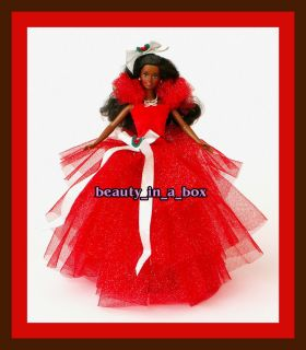 1988 Holiday Barbie African American AA Christmas Doll OOAK Original