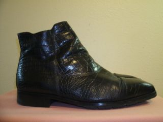 Florsheim Barletta Black Alligator Embossed Dress Ankle Boots Size 14