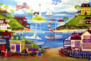 Lovely Seaside by Cheryl Bartley 500 Piece Ravensburger Jigsaw Puzzle