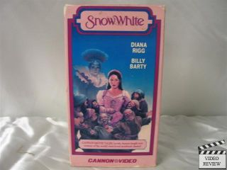 Snow White VHS Diana Rigg Billy Barty Sarah Patterson 045543103238