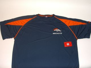 Broncos Officially NFL Licensed Coaches Crew Dry Fit Shirt   2XL