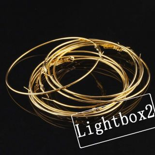 10pcs 80mm Gold Plated Circle Hoop Earrings Craft Findings Jewelry