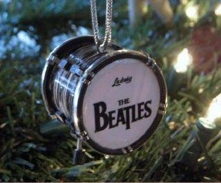 BEATLES BASS DRUM MINI CHRISTMAS DECORATION ORNAMENT FREE S H SALE