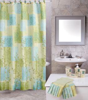 Contemporary 19 Piece Bathroom Accessories Shower Modern Curtains