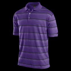 TW Dri FIT Textured Stripe Mens Golf Polo