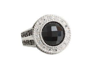 delatori black onyx and crystal ring