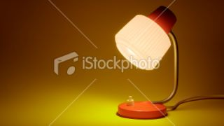 The 70s. retro desk lamp Royalty Free Stock Photo