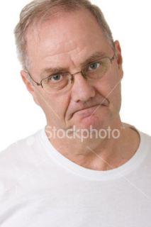 Hommes, Vieux, Visage, Colère, Tristesse Photo libre de droits