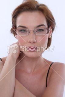 Lunettes de vue, Lunettes, Ophtalmologie, Femmes, Oeil Humain  Stock