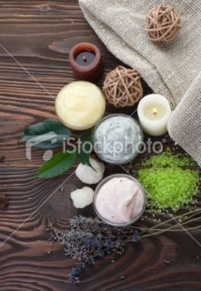 stock photo 12268447 natural spa cosmetics