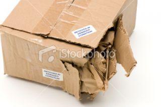 stock photo 11864187 damaged cardboard box