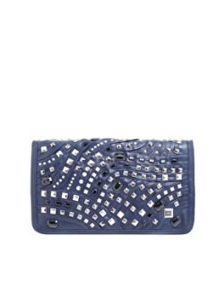 Fiorelli  Fiorelli Metallic Flap Studded Clutch Bag at