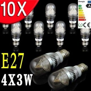 Newly listed 10×E27 Cool White 12W LED Light bulb Candle Lamp Round