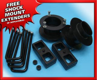Front + 2 Rear Steel Lift Kit Steel Dodge Ram 2500 3500 94 02 4WD