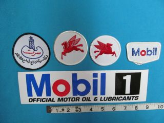 RARE GARAGE PUMP SERVICE MOBIL GAS OIL GASOLINE Patch sticker