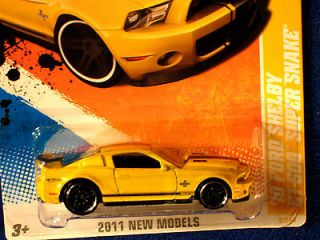 HOT WHEELS 2011 10 FORD SHELBY GT 500 SUPER SNAKE YELLOW/BLACK