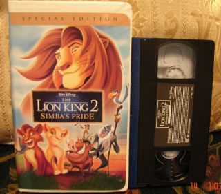 Walt Disneys The Lion King 2 SPECIAL Edition VHS SIMBAS PRIDE MINT