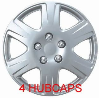 15 SET OF 4 HUBCAPS FIT 2007 TOYOTA COROLLA BRAND NEW UNIVERSAL WHEEL