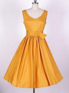 50s Audrey Hepburn Style Ginger Dress Size XL Pinup Vintage Swing