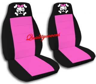cool car seat covers blk hot pink w girly