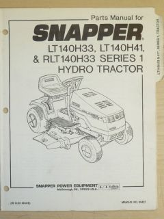 snapper riding lawn mower parts manual manual no 06427 time