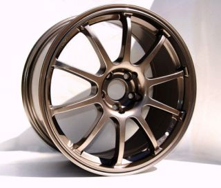 17 ROTA G FORCE BRONZE RIMS WHEELS 17x8 +48 5x100 SUBARU WRX IMPREZA