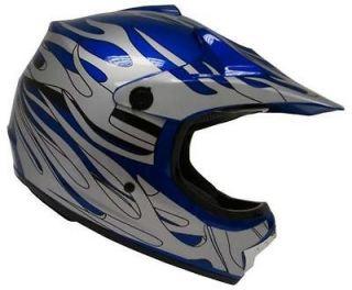 Youth Motocross Motorcross Dirt Bike MX Off Road ATV Helmet RED/Silver