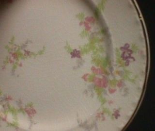 Set Of Four Crooksville China Spring Blossom 6 Cake Bread & Butter