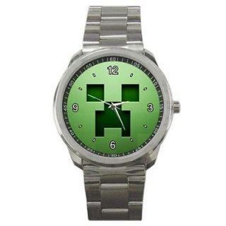 HOT METAL WATCH MINECRAFT GREEN FACE CREEPER CHARACTER PC GAMES