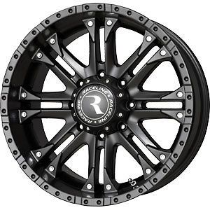 New 20X9 8x165.1 RACELINE WHL Black Wheels/Rims 8 Lug Chevy GMC