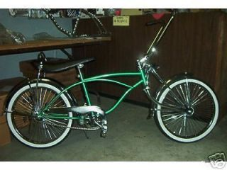 lowrider bike brand new beautiful gren complete bicycle time left