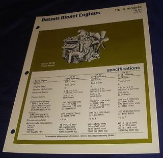 BR370 Detroit Diesel Engines Truck Model 6V 92 276hp Specification