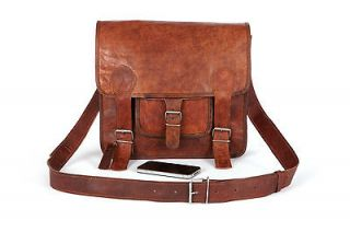 Newly listed LEATHER SATCHEL MESSENGER BAG (SMALL)   Retro / Vintage