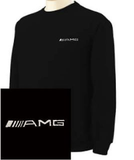 mercedes benz amg logo embroidered black sweatshirt new