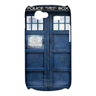 NEW Blue Police Call Box Dr. Who TARDIS DW Samsung Galaxy S3 III Hard