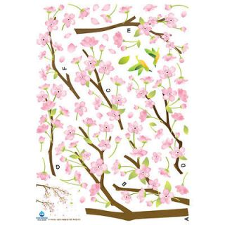 Hummingbirds in Pink Flower Instant Art Home Decor Removable Wall