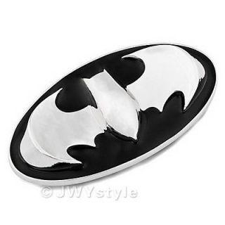 Silver Black Batman Punk Mens Western Cowboy Big Metal Belt Buckle