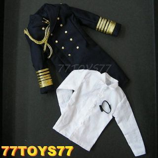 3R 1/6 GM607_ Trench Coat#2+Shirt+Bow Tie_ German Elite Officer WWII