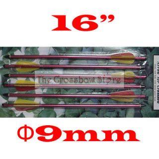 pcs of 16 aluminum crossbow arrows bolts shaft steel