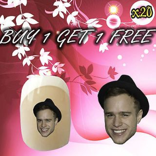 Olly Murs Nail Art Stickers Water Decal Transfers **Free P&P** **Post