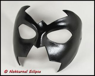 Nightwing Black Leather Mask Super Hero Batgirl Batman Halloween