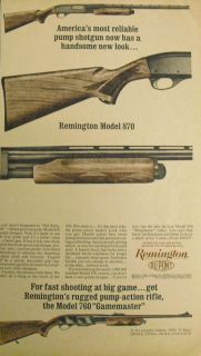 1963 Ad DuPont Remington Reliable Pump Shotgun Model 870 760
