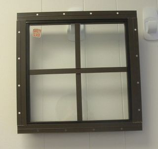 shed window 12 x 12 square brown flush mount time