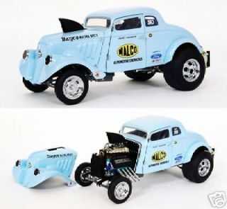 1933 WILLYS GASSER OHIO GEORGE PRECISION MINIATURES 1/18th NHRA DRAG