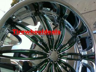 26 inch Velocity V820 Wheels rims&Tires fit Chevy Ford Nissan Cadillac